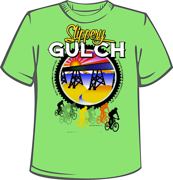 Graphic art - Slippery Gulch T shirt